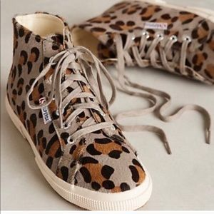Superga leopard sneakers high tops